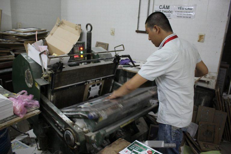 hoạt động sản xuất công ty vua in